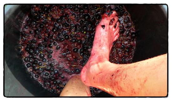 foot mashing