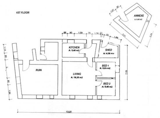 existing plans 1st floor
