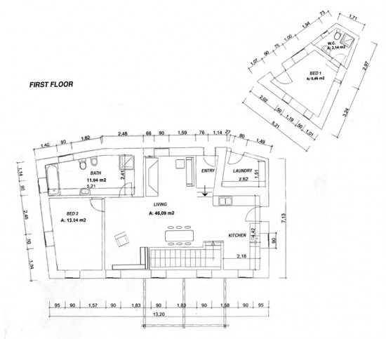 Free home plans subterranean house plans Shelter house plans