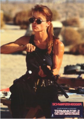 Linda Hamilton as Sarah O'Connor