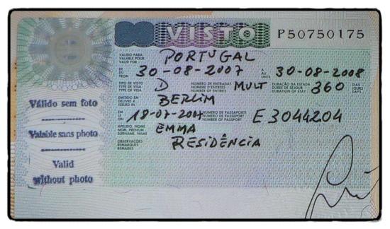 American Visa Number Example